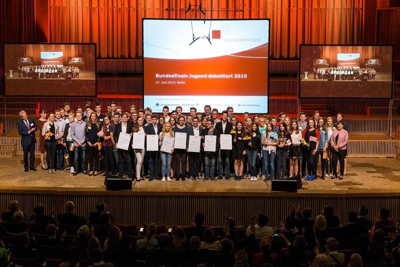"""Livestream des Bundesfinale von """"Jugend debattiert"""" 2015"""