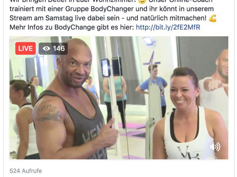 Livestream für BodyChange mit Detlev D! Soost