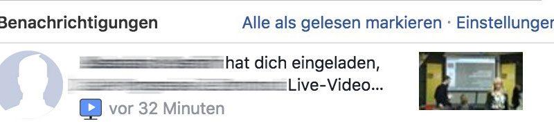Facebook testet Einlade-Funktion für Livestreams