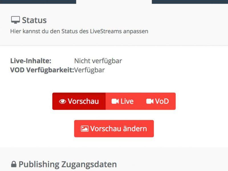 Livestream auf der eigenen Seite einrichten
