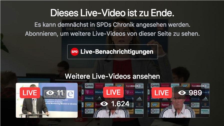 Neue Facebook-Live-Funktionen