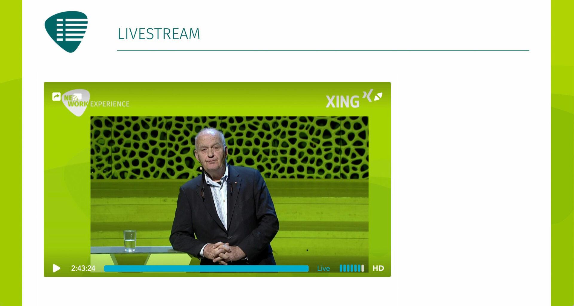 Livestream für XING