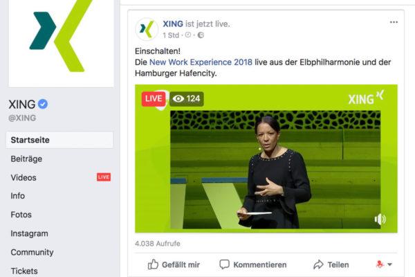 Der Livestream auf der Facebook-Seite,