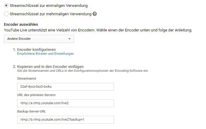 Contentflow Livestream bei YouTube