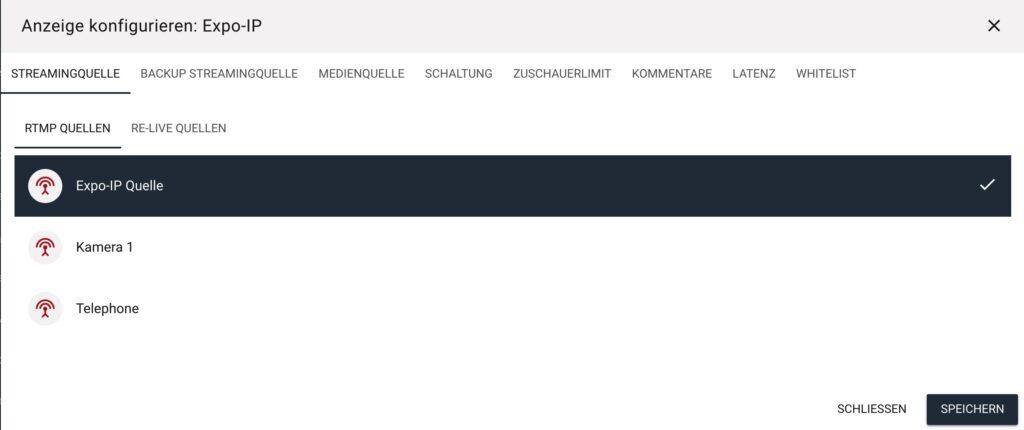Webplayer konfigurieren