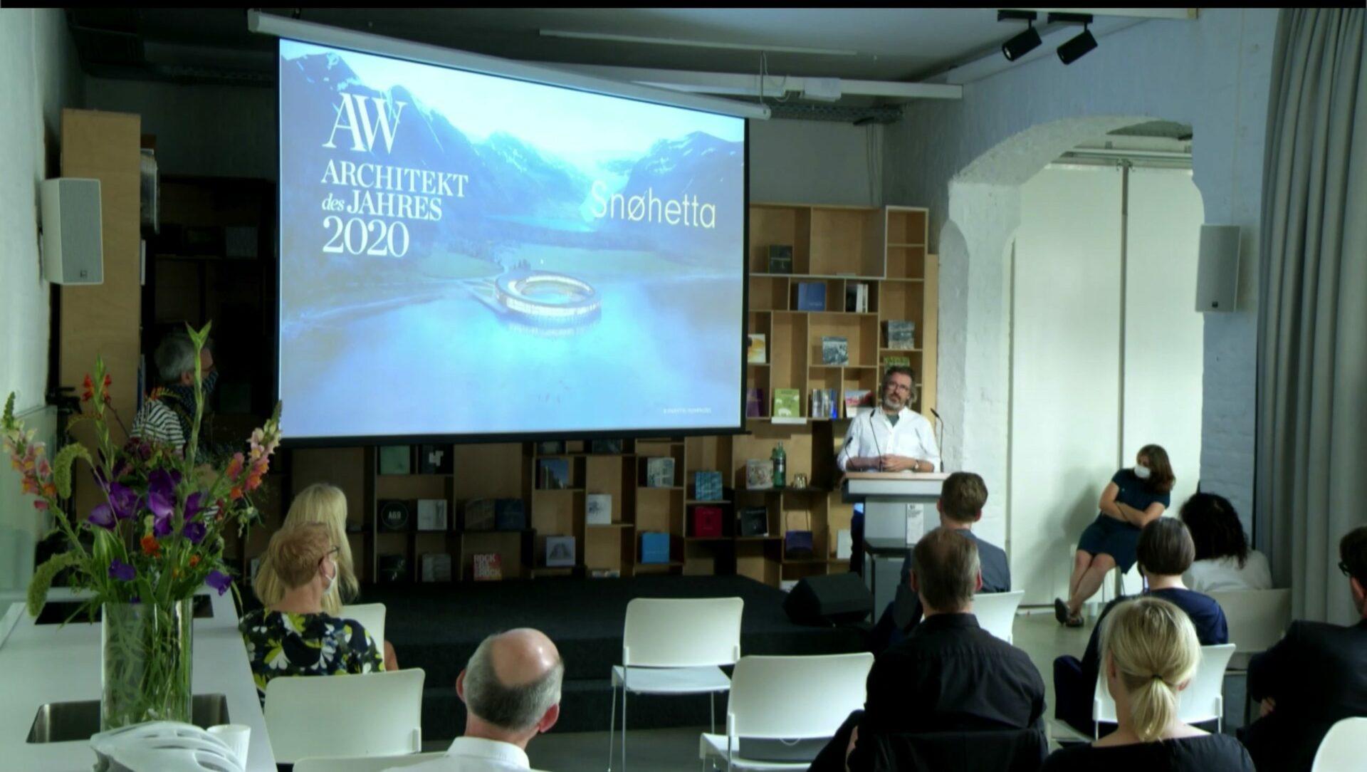 """""""AW Architekt des Jahres 2020"""" – Preisverleihung und Ausstellungseröffnung im Livestream"""