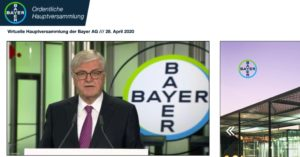 Virtuelle Hauptversammlung bei Bayer - Screenshot