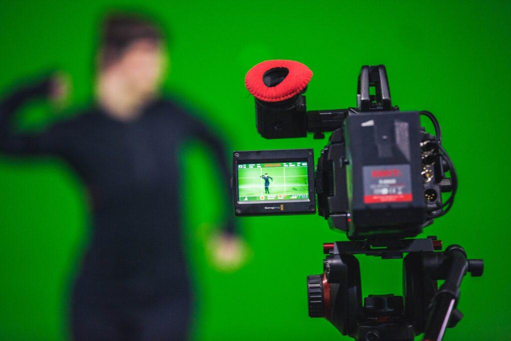 Livestreaming-Kulisse Greenscreen